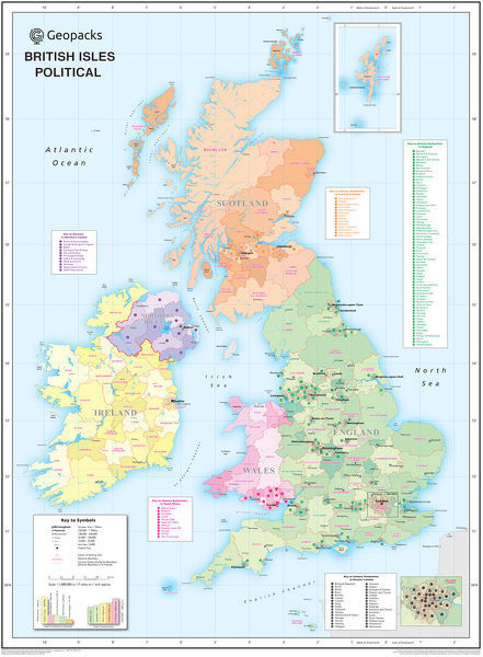 Childrens Political British Isles Map