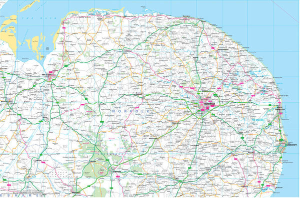 Norfolk County Road Map